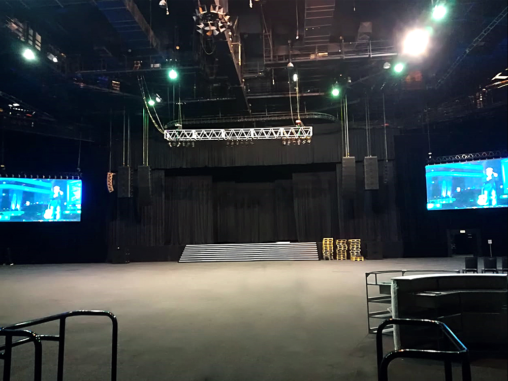 Stage Audio Works Install Sun City Superbowl